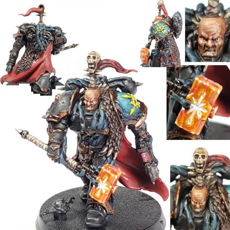 Black Legion Chaos Space Marine Lord with Thunderhammer