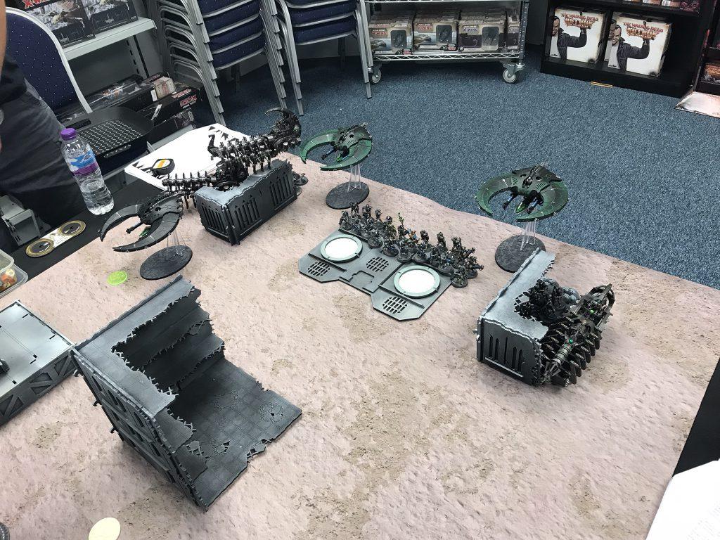 The Necron Phalanx musters