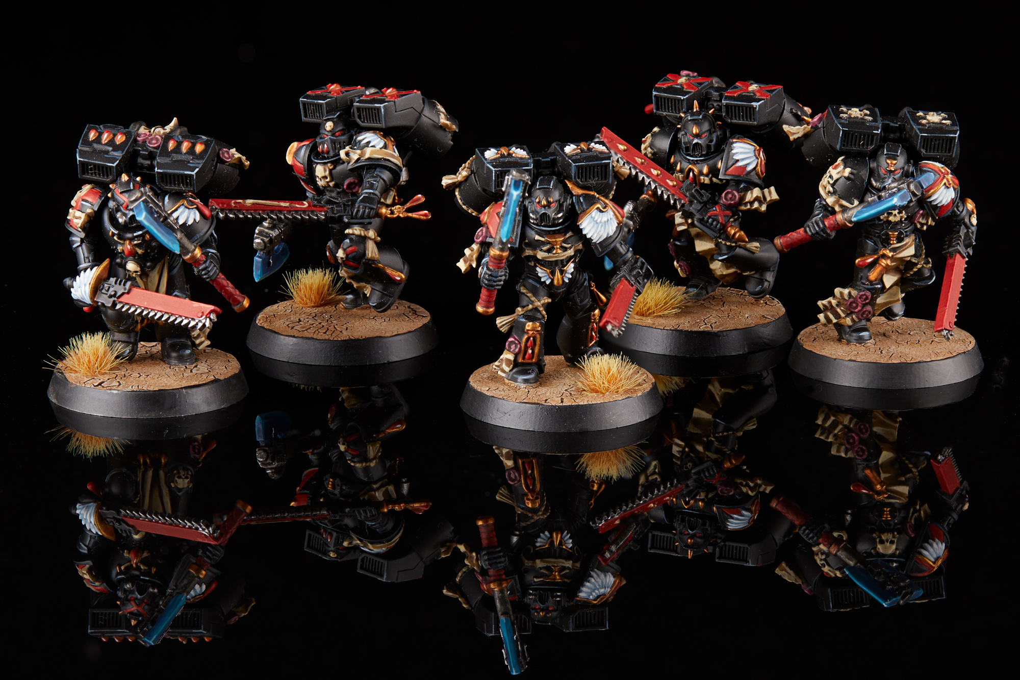 Warhammer 40K Blood Angels Death Company Chalice Hemet Heads x 5 G B5 A