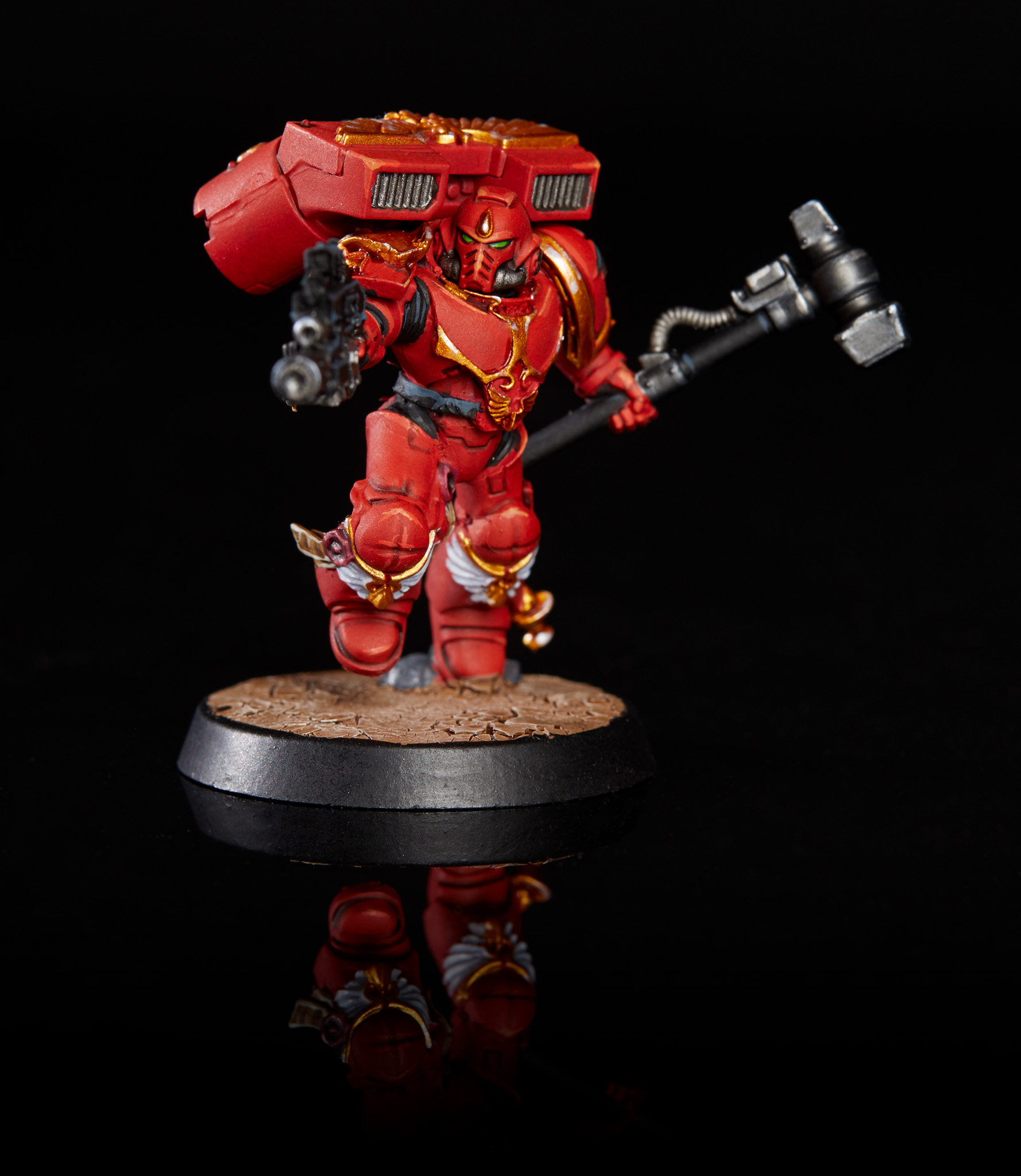 Blood Angels Captain with Thunder Hammer