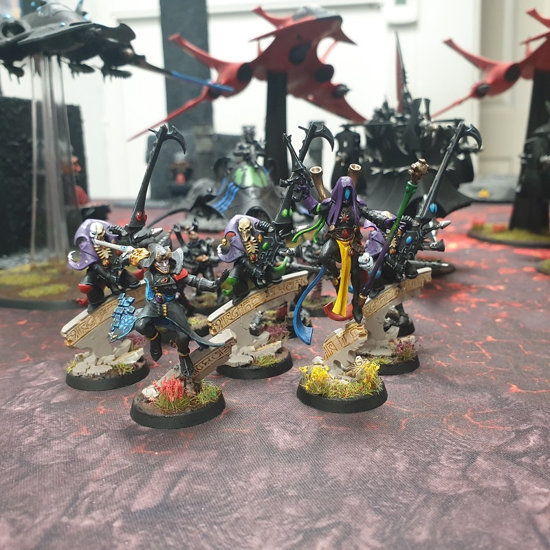 Group of Harlequin characters