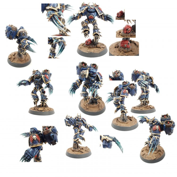 """Chaos Space Marine Night Lords Warp Talons , Painted by Tyler """"Coda"""" Moore"""