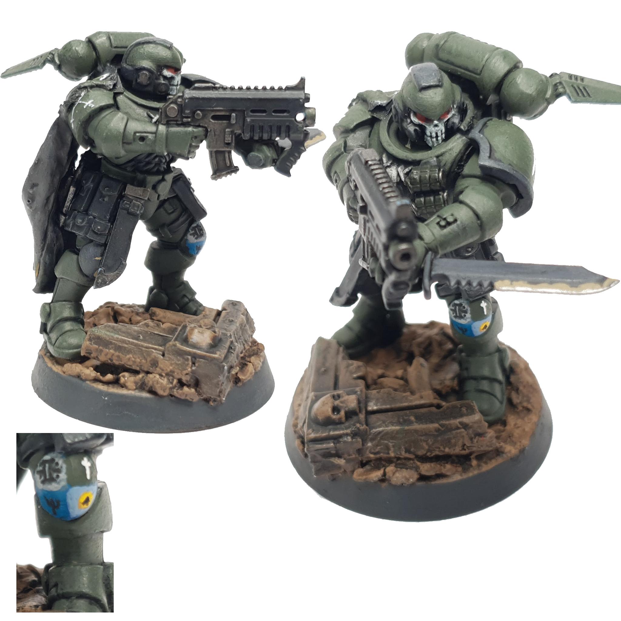 "Space Marine Kill Team Agravain Reiver Sergeant Painted by Tyler ""Coda"" Moore"