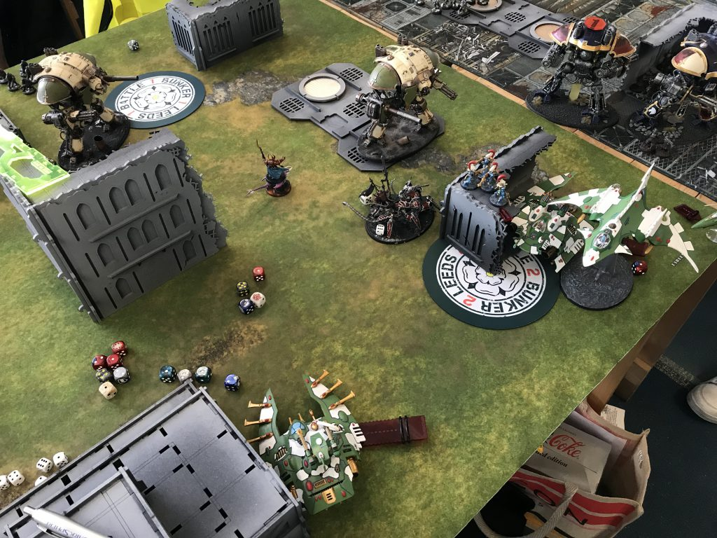 Knights crush the aeldari