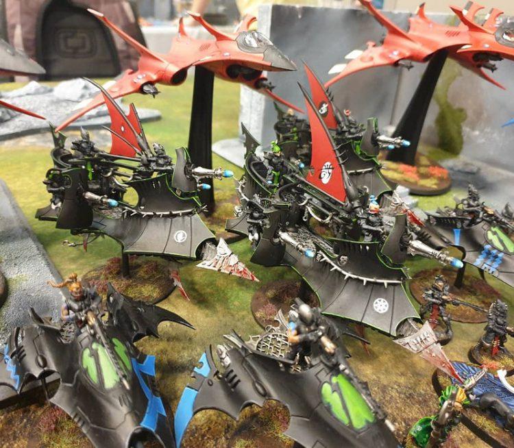 Mixed Aeldari army at NOVA.