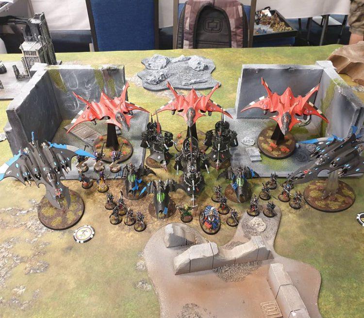 Mixed Aeldari army at NOVA