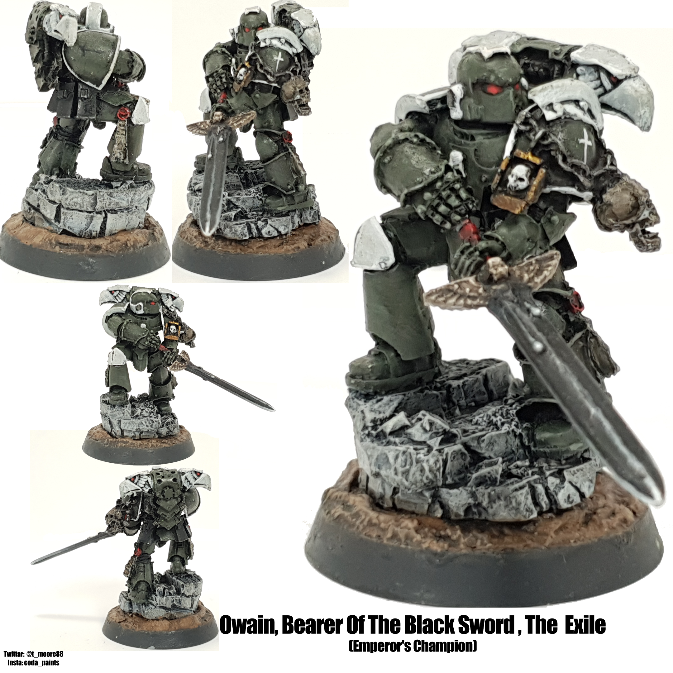 Space Marine Swords of Davion Chapter Champion Emperor's Champion