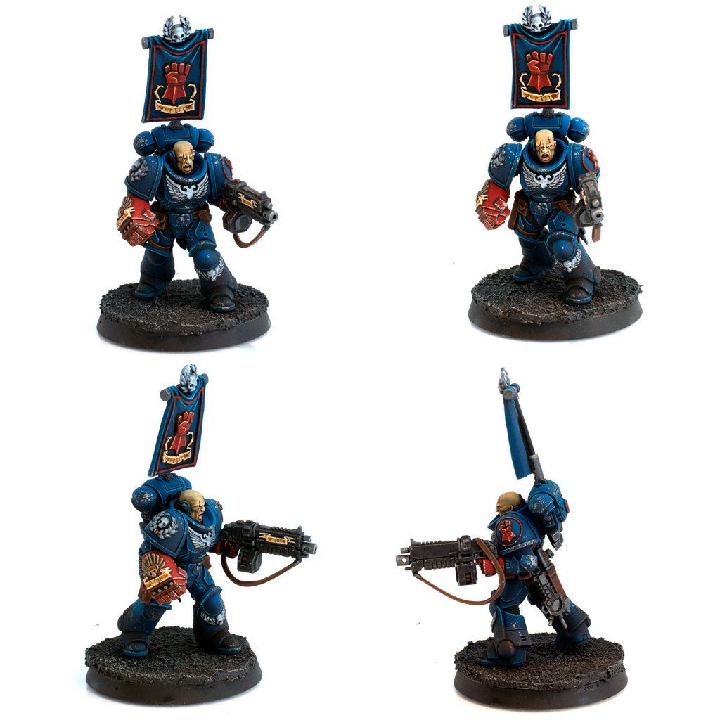 Crimson Fists Lieutenant Montage