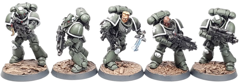 "Swords of Davion Intercessors With Stalker Bolt Rifles Squad Eliwlod By Tyler ""Coda"" Moore"