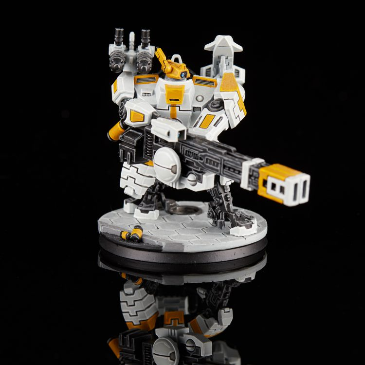 Tau Broadside Battlesuit with Railgun
