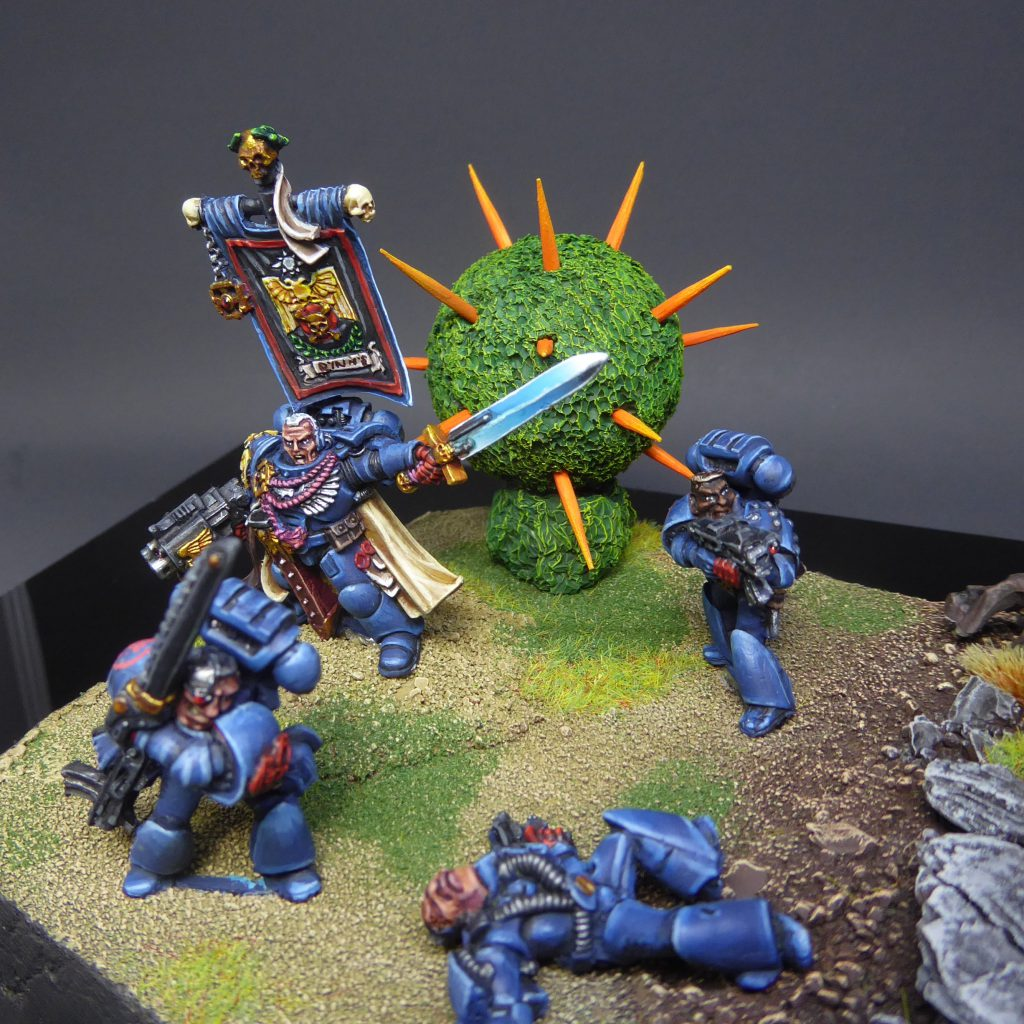 "Crimson Fist Space Marines from Codex Creep by Craig ""MasterSlowPoke"" Sniffen"