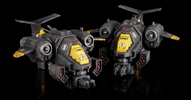 Imperial Fist Stormtalon Gunships