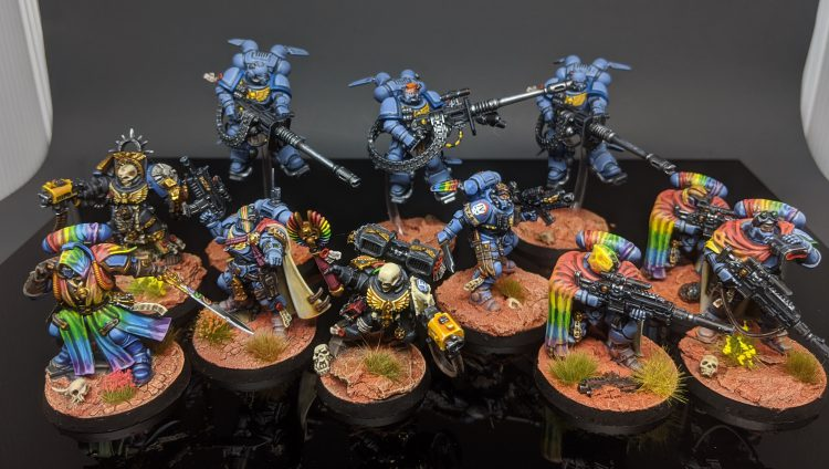 "Phobos Captain, Librarian, and Lieutenant, Terminator Chaplain, Jump Chaplain, Elimnators, and Suppressors by Craig ""MasterSlowPoke"" Sniffen"
