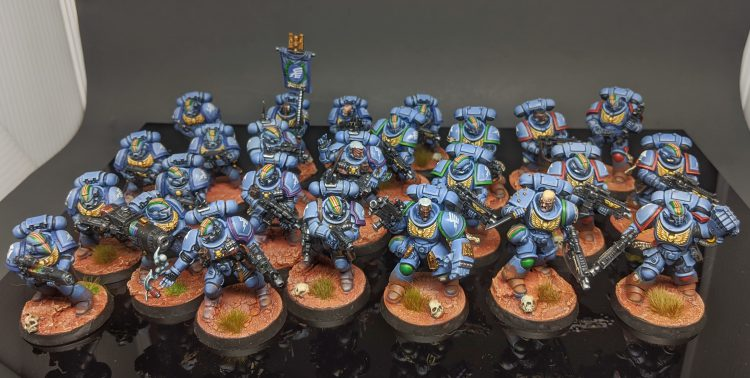 "Rainbow Warriors Intercessors, Tactical Marines, and Infiltrators by Craig ""MasterSlowPoke"" Sniffen"