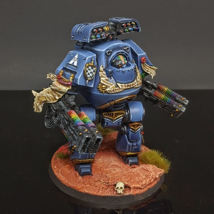 """Relic Comtemptor Dread with Cyclone Missile Launcher and Volkites by Craig """"MasterSlowPoke"""" Sniffen"""