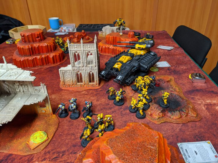 Slightly thinned out Imperial Fists take out Aeldari
