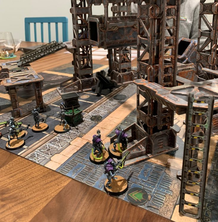 Necrons in an Industrial Sector