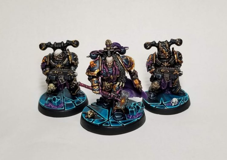 Black Legion Chaos Space Marines / Servants of the Abyss for Blackstone Fortress by Crab-stuffed Mushrooms