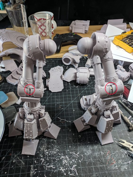 Reaver Titan Leg Assembly