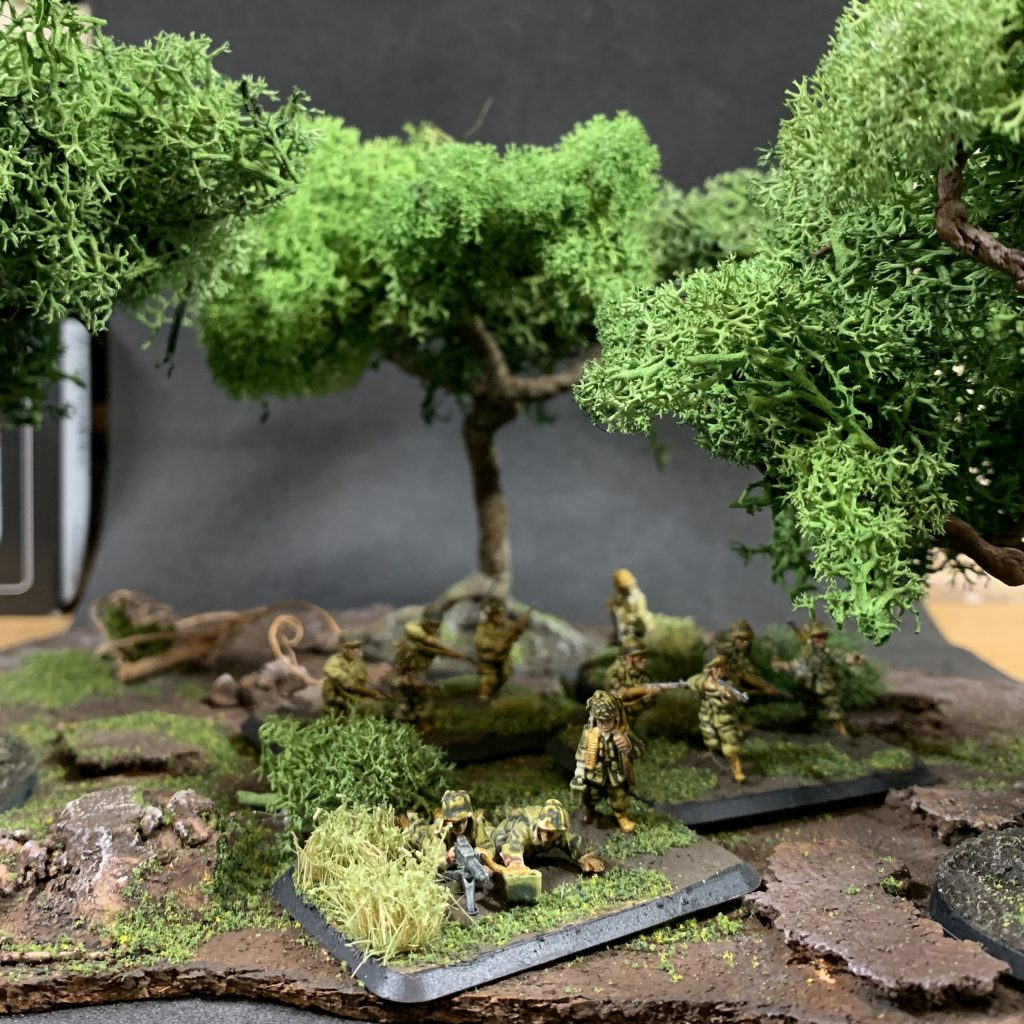 Scratch built trees with base. Credit: Mike Bettle-Shaffer