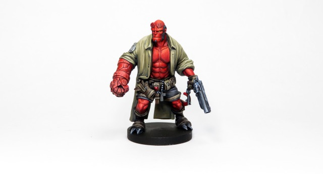 Hellboy Painted by Angel Giraldez Credit: Mantic Games