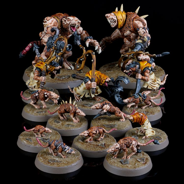 Skaven Rat Ogors, Giant Rats, and Packmasters