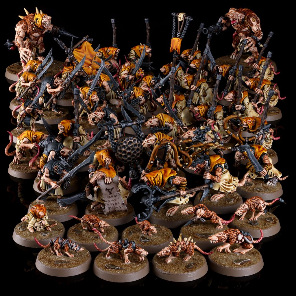 Giant Rats, Packmasters, Rat Ogors, Clanrats, and Plague Monks