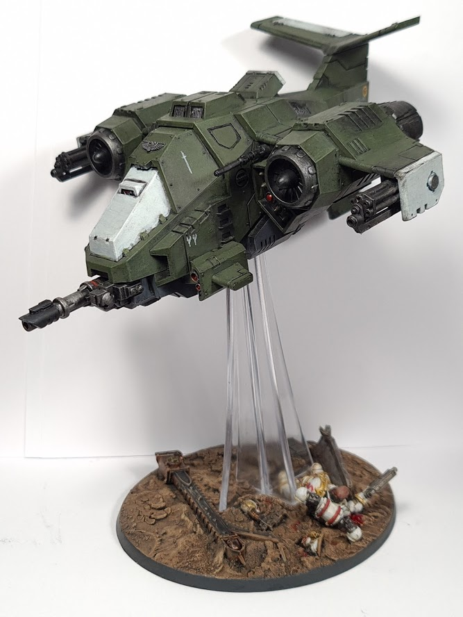 "Swords of Davion Stormhawk Interceptor with diorama base Credit: Tyler ""Coda"" Moore"