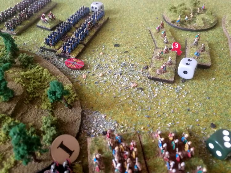 Auxiliaries close in on skirmishers
