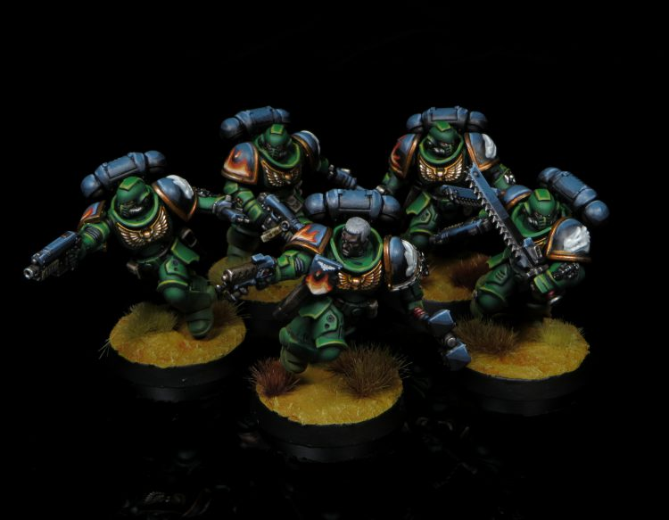 Assault Intercessors w/ Hand Flamer and Thunder Hammer. Credit: Rockfish