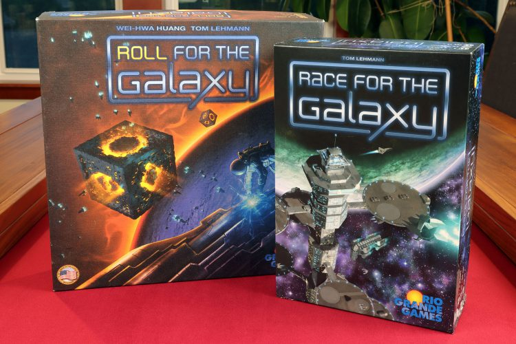 Roll and Race for the Galaxy