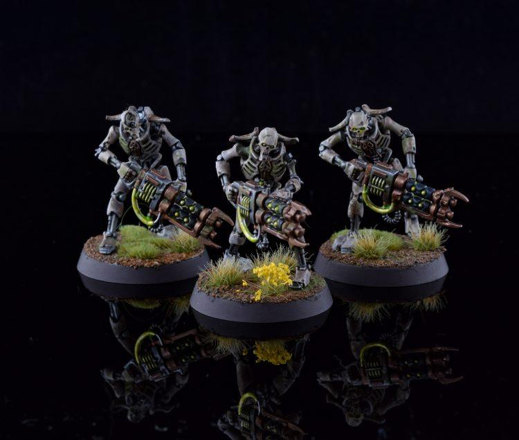 Necron warriors close-up