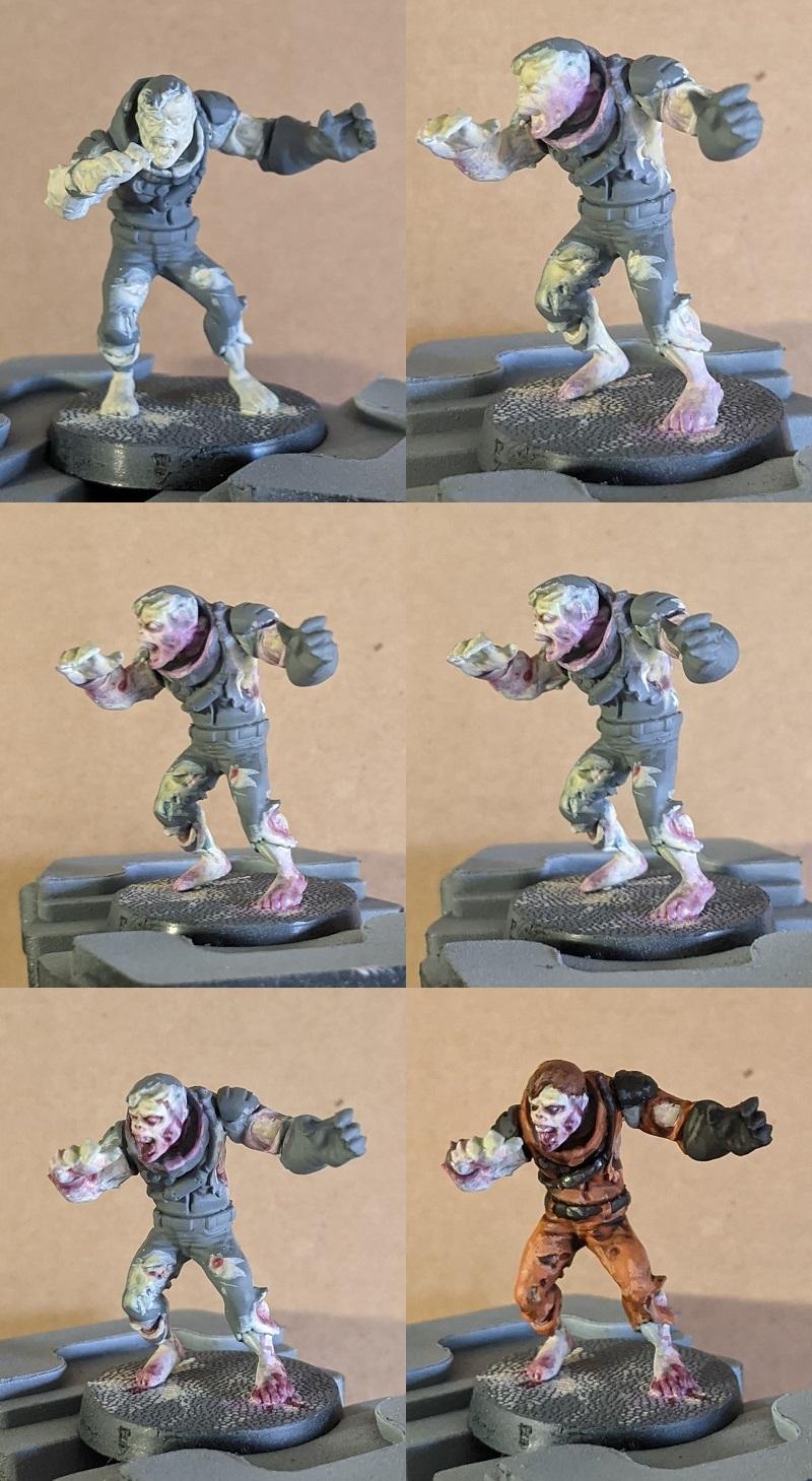 Pastel Zombie Step by Step