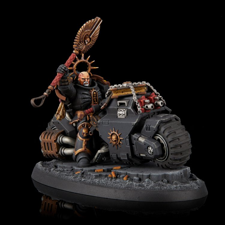 Imperial Fists Primaris Chaplain on Bike
