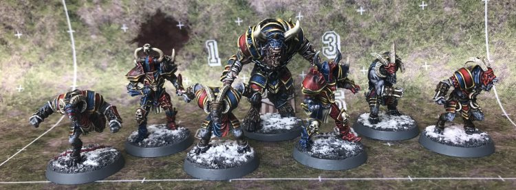 Nexus Longhorns - Chaos Chosen Team - Painted by Jackal