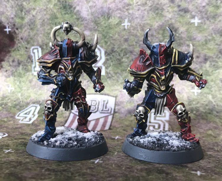 Chaos Warrior Blockers - Painted by Jackal