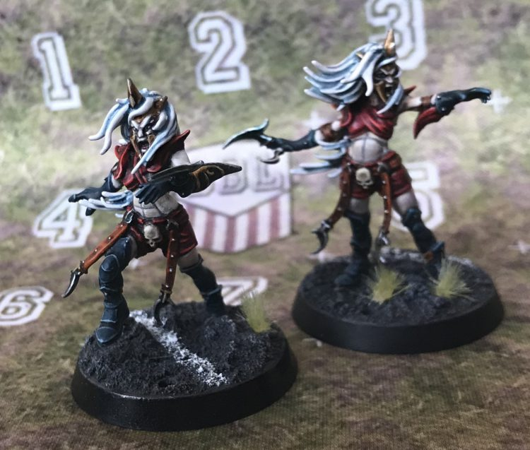 Dark Elf Witch Elves - Painted by Jackal