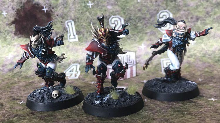 Dark Elf Blitzers and Runner - Painted by Jackal