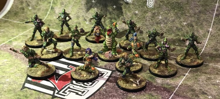 Hedgerow Hellcats - Wood Elf Team - Painted by JimboDeany