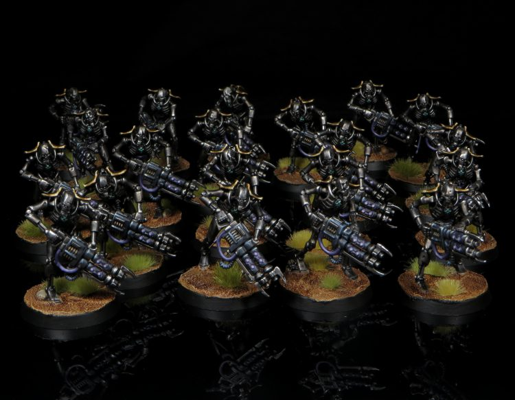 Necron Warriors w/ Gauss Reapers. Credit: Rockfish