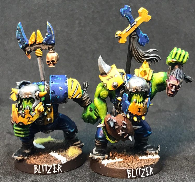 Orc Blitzers - Painted by ineptmule