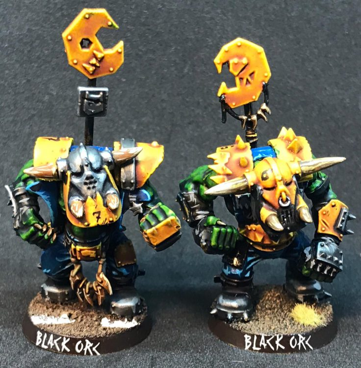 Orc Big 'Uns / Black Orcs - painted by ineptmule