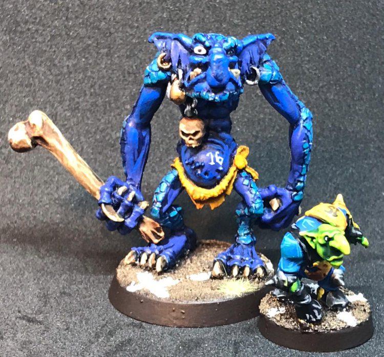 Troll Blocker and Goblin - Painted by ineptmule