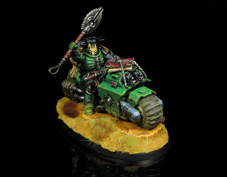Salamanders Primaris Chaplain on Bike. Credit: Rockfish