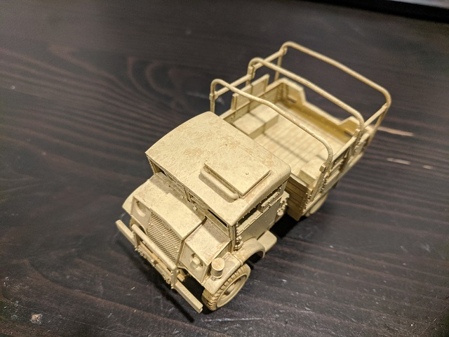 North Africa vehicle mid coat top view