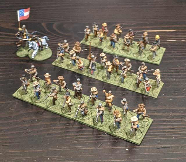 ACW Pickett's Charge Confederate Brigade