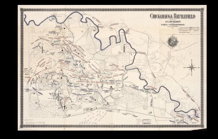 ACW Chickamauga Battlefield Map