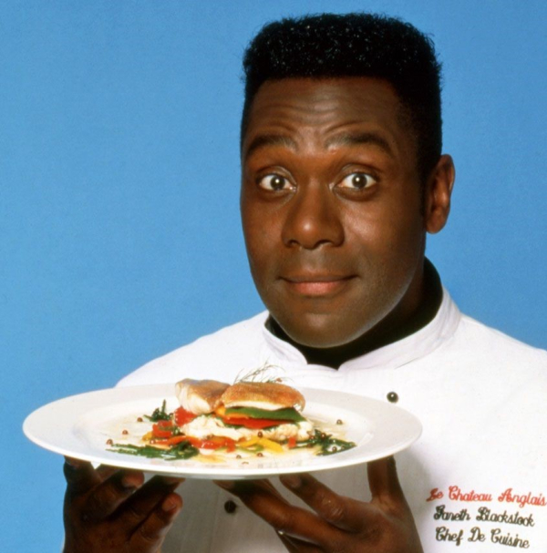 Lenny Henry, in his role as Gareth Blackstock from Chef