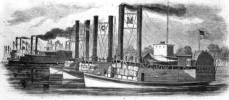 ACW Ellet Rams at anchor