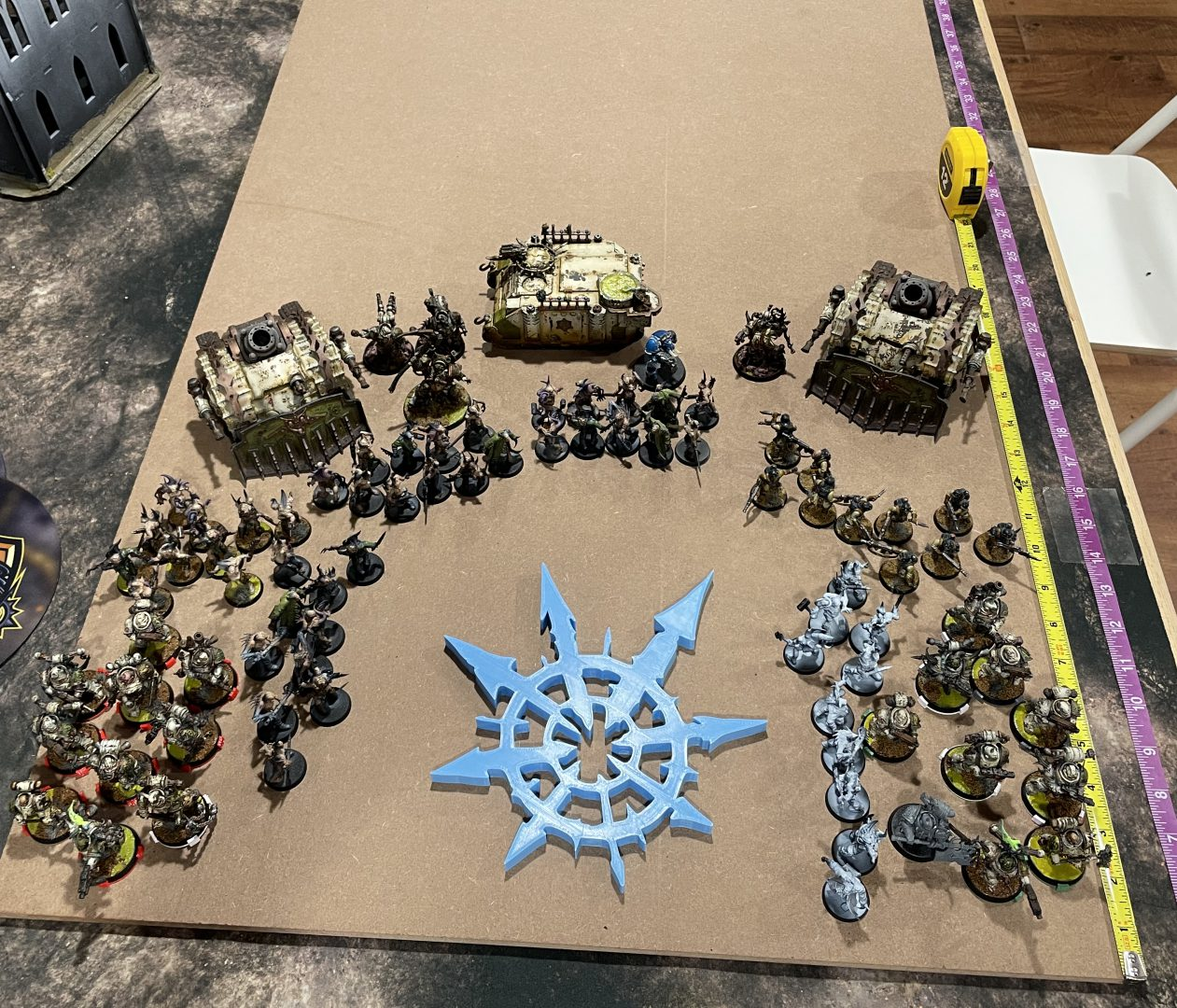 The Fabricator General: Building a Nurgle-themed display board, Version 2